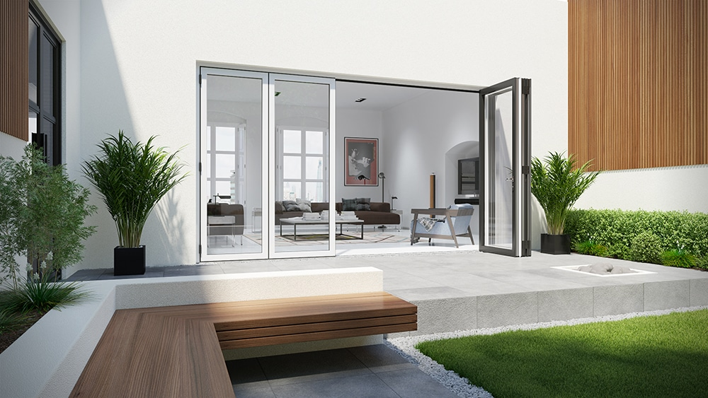Contemporary bi-folding doors